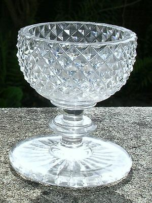 Antique Georgian Early Victorian Irish Brilliant Cut Glass Salt Pedestal Cellar
