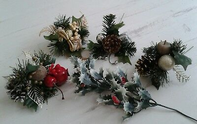 christmas decorations artificial holly/ sprigs/sprays