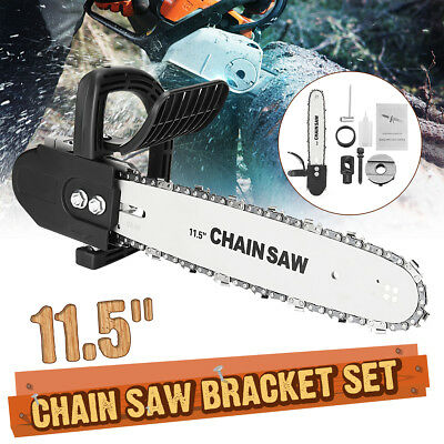Drillpro 11.5'' Electric Chain Saw Bracket Angle Grinder Into Chainsaw Woodwork