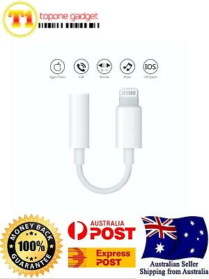 Genuine Apple Lightning to 3.5mm Headphone Stereo Jack Adapter iPhone 7 8 X MAX