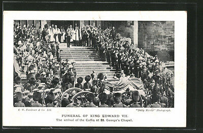 AK Funeral Of King Edward VII. von England, The arrival of the Coffin at St. Ge
