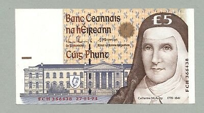 IRLAND 5 Pounds 27.4.1994 Pick # 75a Central Bank of Ireland *UNC