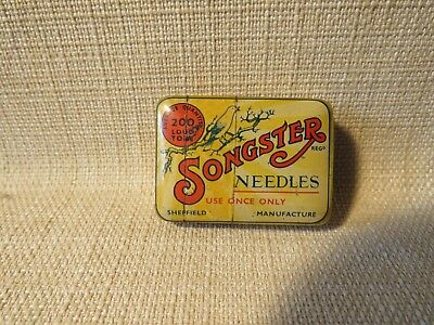 Songster Gramophone Needles Tin