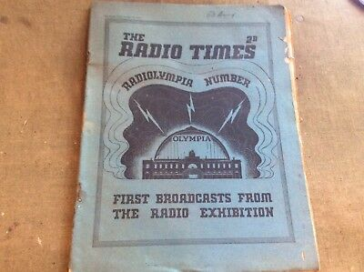 The Radio Times Magazine Aug 10th 1934 Radiolympia Number