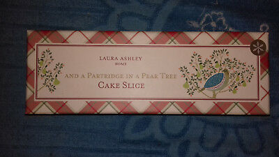 Laura Ashley partridge in a pear tree cake slice, new in box