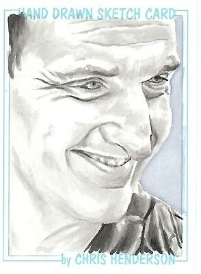 Dr Doctor Who Chris Henderson Sketch Card of The 9th Doctor