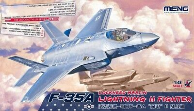 MENG MODEL LS-007 Lockheed Martin F-35A Lightning II Fighter in 1:48