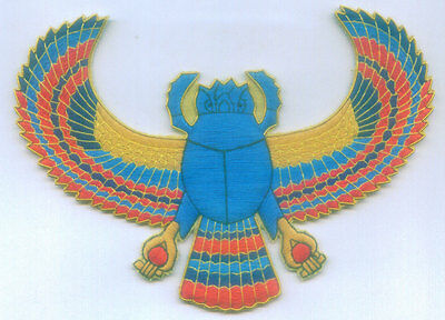 Ancient Egypt Egyptian Scarab God Symbol Deity Occult Secret Sign Patch Applique