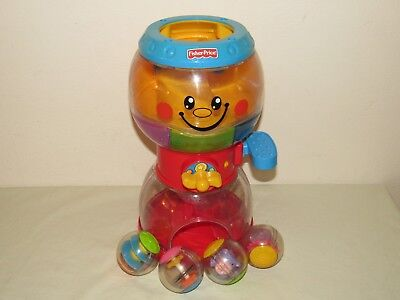 Fisher Price Roll-A-Rounds MUSICAL GUMBALL MACHINE & 4 Balls