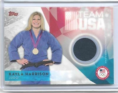 Awesome 2016 Topps Olympic Kayla Harrison Relic Card ~ Mma ~ Judo Gold ~ Ufc