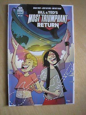 BILL & TED 's MOST TRIUMPHANT RETURN 1. RETAILER INCENTIVE VARIANT . BOOM. 2015