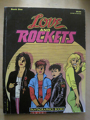 LOVE & ROCKETS Book 1 ONE, 2nd PRINT, 1986. SOFTCOVER. 146 pages. EXC CONDITION