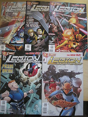 LEGION OF SUPER HEROES  #s  1,2,3,4,5. 1st PRINTs. THE NEW 52. DC. 2012