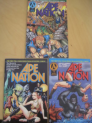 PLANET of the APES : APE NATION #s 2,3,4 of 4 ISSUE SERIES. 1991.ADVENTURE.COLOR