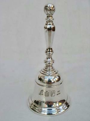 Superb Quality Contemporary Solid Sterling Hallmarked Silver Table Bell.