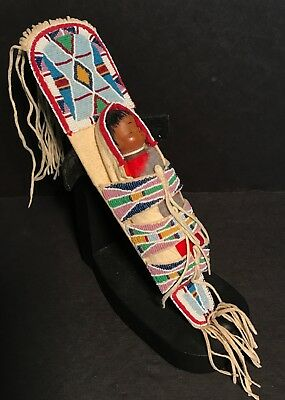 """""""PLAINS"""" BEADED CRADLEBOARD by Jerry Ingram,DOLL by Lucy Lowden,Provenance,Mint!"""