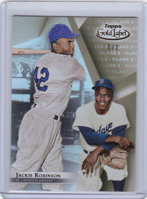 2018 Topps Gold Label JACKIE ROBINSON GOLD 1/1 PARALLEL! TRUE 1/1! DODGERS MO
