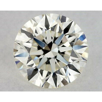 0.40 CT to 5.45 CT Off White Yellow Round Cut Loose Moissanite Stone For Ring