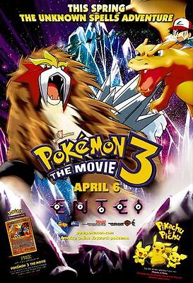 Pokemon 3 - original DS movie poster - D/S 27x40 2001