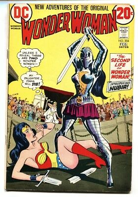 Wonder Woman #204 comic book DC - 1st appearance of NUBIA 1973