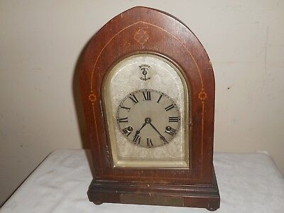 HAC Bracket Clock in Inlaid Case, For Restoration, Working. Freemasons Interest