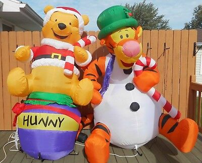 Set of 2 Gemmy 8' Airblown Inflatables Winnie the Pooh & Tigger Decorations