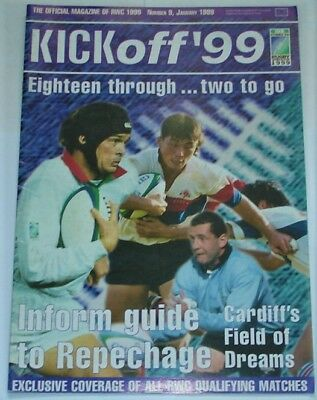 Kick Off Rugby Magazine  No 9 January1999  Pre 1999 Rugby World Cup Coverage