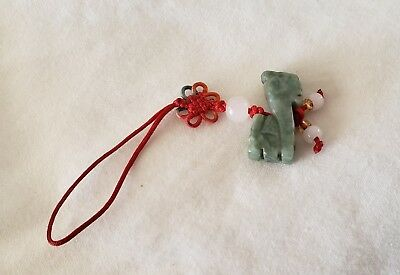 Chinese zodiac green jade lucky lion