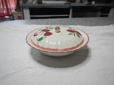 Blue Ridge Crab Apple Covered Serving Bowl