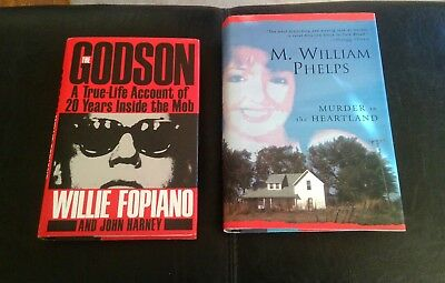 lot of 2 true crime hardcover books