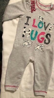 Baby girls 6-9 months Disney 101 Dalmations babygrow / all in one outfit