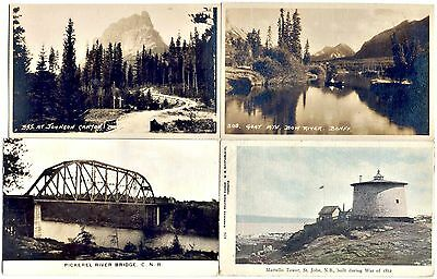 CANADA POSTCARD SET OF 4: 2 RP UNUSED: 1 RP USED, 1 TINT USED: As Shown