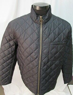 Barbour Mens Black Nylon Quilted L/S Bomber Jacket SZ XXL NWT
