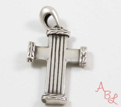 Sterling Silver Vintage 925 Religious Cross Dangle Pendant (4.3g) - 740665