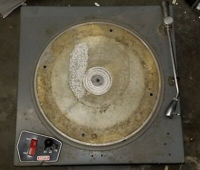 "GATES RADIO CB 500 16"" Vintage Broadcast Turntable and Rek O Kut tonearm"