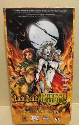 Box of 2001 Lady Death/Medieval Witchblade 'Lethal Ladies' cards