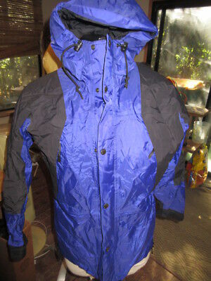 The North Face.TNF Gore-Tex Parka Hooded Jacket.Mens Small.Blue-Black