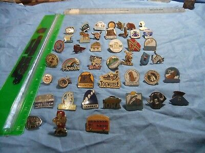 hat pins from the 1970-80's multiple states and sites