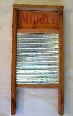 Vintage National Washboard Co MIDGET # 442 Wood & Tin