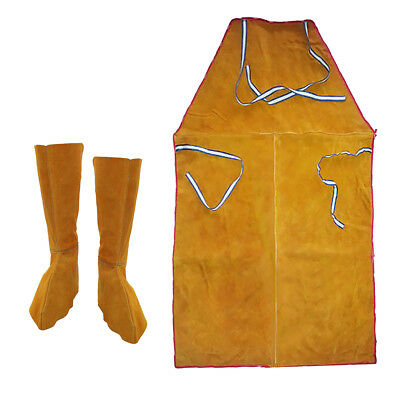 Leather Welders / Blacksmiths Apron Leather Heat-Resistant Welding Spats