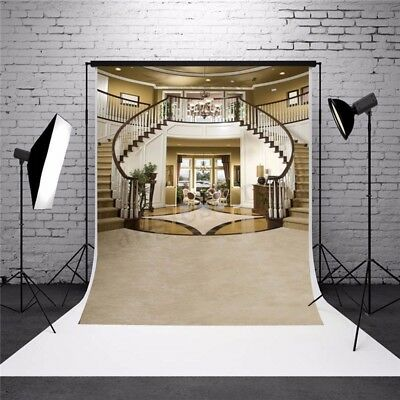 5X7FT Thin Vinyl Photography STAIRCASE Background Backdrop Studio Props US
