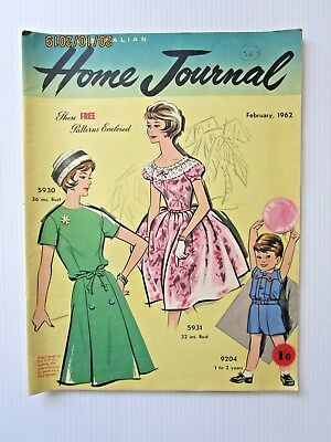 Australian Home Journal February 1962 - INCLUDES PATTERNS  - FREE POSTAGE