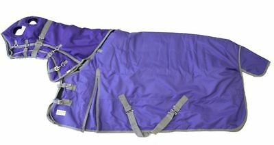 Horse Turnout Blanket Hood Combo Waterproof Ripstop 1200D Heavy Weight Purple