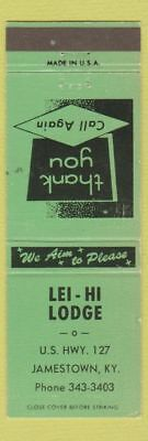 Matchbook Cover - Lei Hi Lodge Jamestown KY
