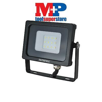 Faithfull Power Plus SLWM10 SMD LED Wall Mounted Floodlight 10W 800 Lumen 240V