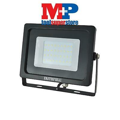Faithfull Power Plus SLWM30 SMD LED Wall Mounted Floodlight 30W 2400 Lumens 240V