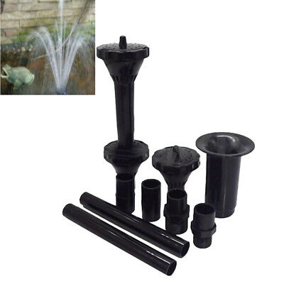 Fountain Pump Nozzle Multifunction Plastic Waterfall Garden Spray Heads for Pond
