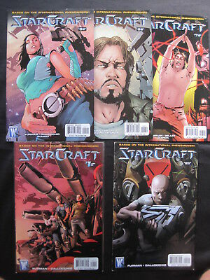STARCRAFT issues 1,2,5,6,7 of 2009 SERIES. BASED ON THE GAME. STAR CRAFT. MATURE