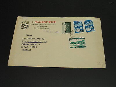 Bulgaria 1967 airmail cover to Finland *2407