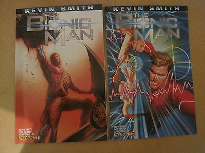 The BIONIC MAN #s 1 & 2 by KEVIN SMITH & PHIL HESTER. 1st PRINT. DYNAMITE. 2011